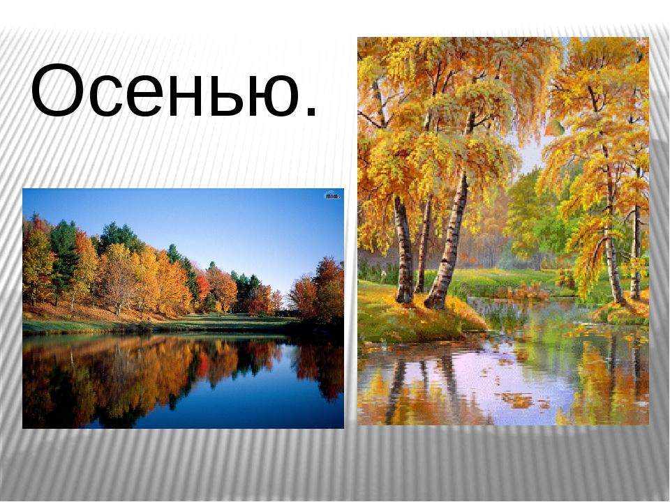 Осенью.