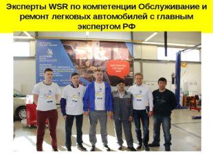 Эксперты WSR по компетенции Обслуживание и ремонт легковых автомобилей с глав