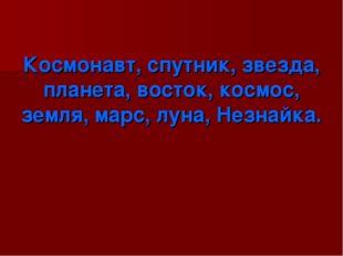 Космонавт, спутник, звезда, планета, восток, космос, земля, марс, луна, Незн