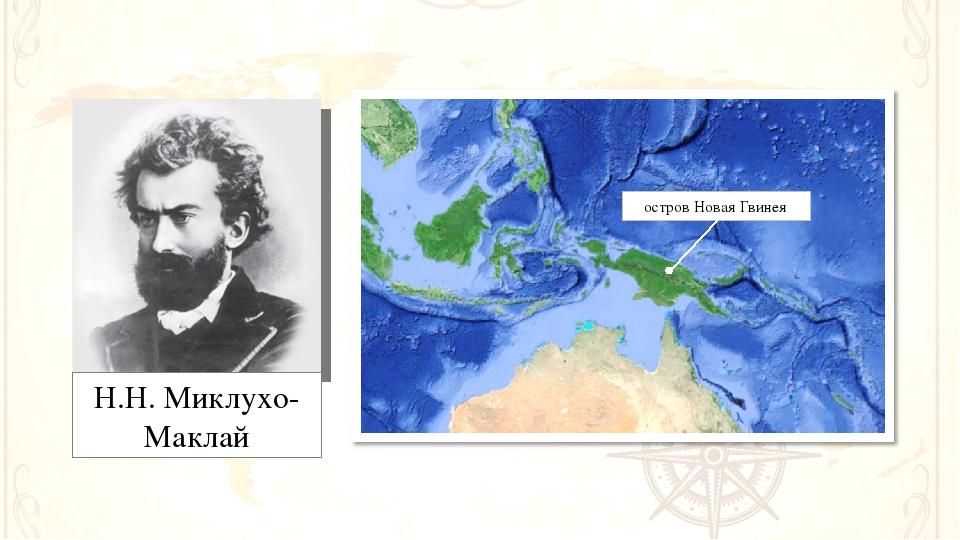 Н.Н. Миклухо-Маклай остров Новая Гвинея