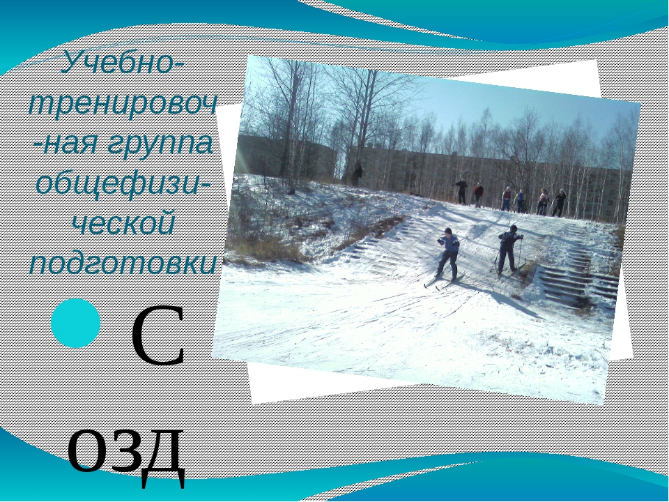 Учебно-тренировоч-ная группа общефизи-ческой подготовки Создана в 2005-2006 у...