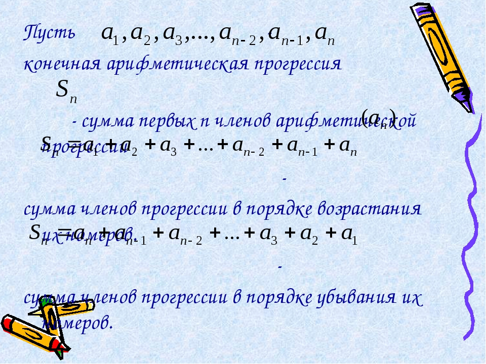 Пусть - конечная арифметическая прогрессия - сумма первых n членов арифметиче...