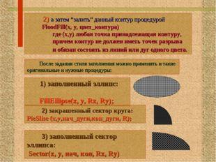 "2) а затем ""залить"" данный контур процедурой FloodFill(x, y, цвет_контура) г"