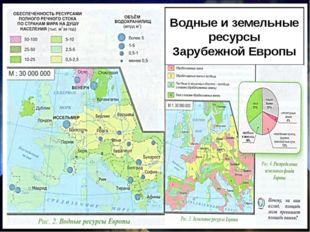 Водные и земельные ресурсы Зарубежной Европы Природные ресурсы Водные Значите