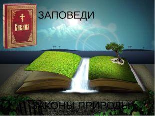 ЗАПОВЕДИ ЗАКОНЫ ПРИРОДЫ Комельских М.Г. МАОУ НОШ №13 Библия - http://www.oran