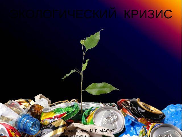 ЭКОЛОГИЧЕСКИЙ КРИЗИС Комельских М.Г. МАОУ НОШ №13 Росток - http://earth911.co...