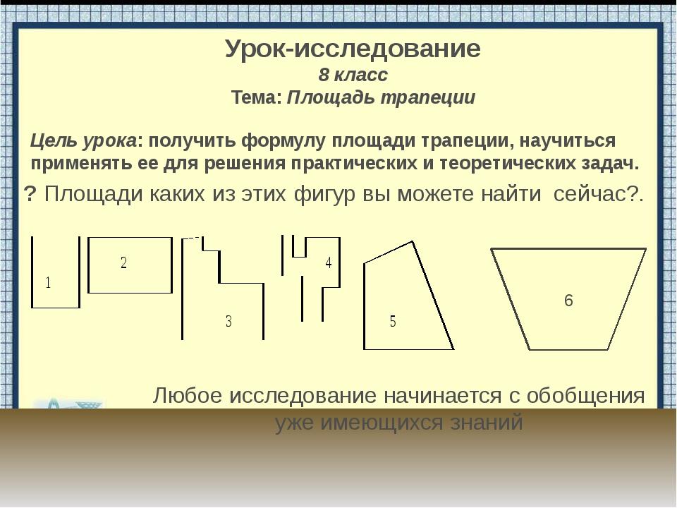 a b h 1/2(a+b) Моделирование трапеции