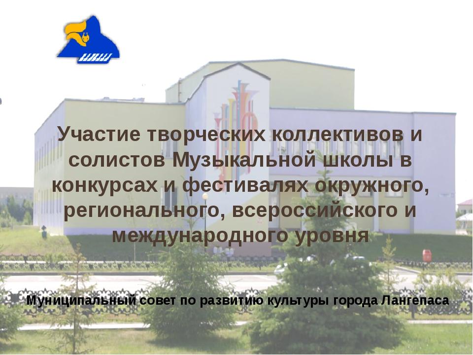 Участие творческих коллективов и солистов Музыкальной школы в конкурсах и фес...