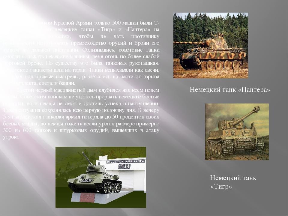 Из 900 танков Красной Армии только 500 машин были Т-34. Они атаковали немецки...