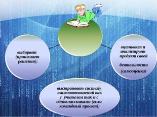 Ученик при выполнении проекта выстраивает систему взаимоотношений как с учите