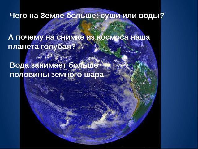 Чего на Земле больше: суши или воды? А почему на снимке из космоса наша плане...