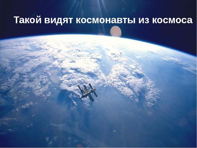 Такой видят космонавты из космоса