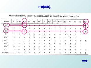FeCl3 KOH Fe(OH)3 KCl