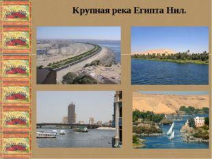 Крупная река Египта Нил.