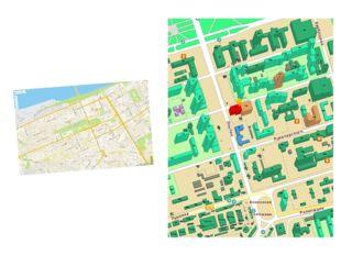 Дороги и дома тоже относятся к математическим формам и изображаются на карте
