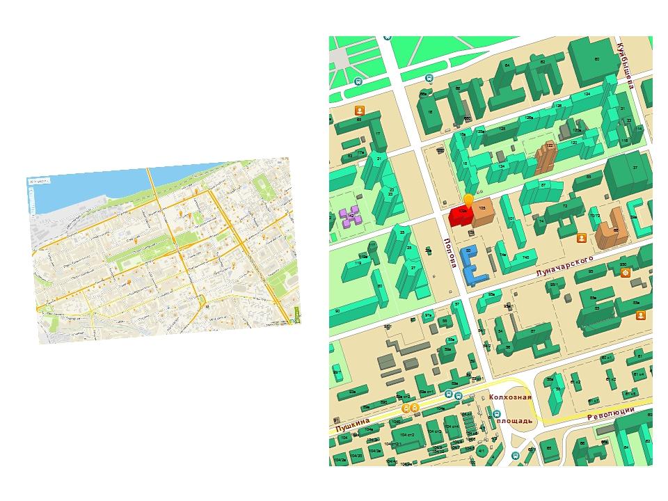 Дороги и дома тоже относятся к математическим формам и изображаются на карте...