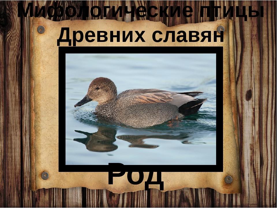 Мифологические птицы Древних славян Род