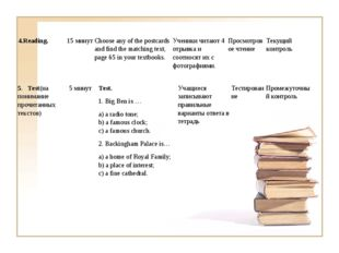 4.Reading.15 минутChoose any of the postcards and find the matching text, p
