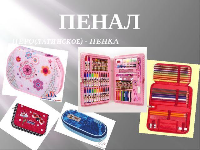 ПЕНАЛ ПЕРО(ЛАТИНСКОЕ) - ПЕНКА
