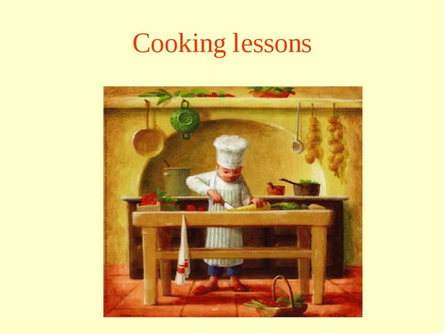 Cooking lessons