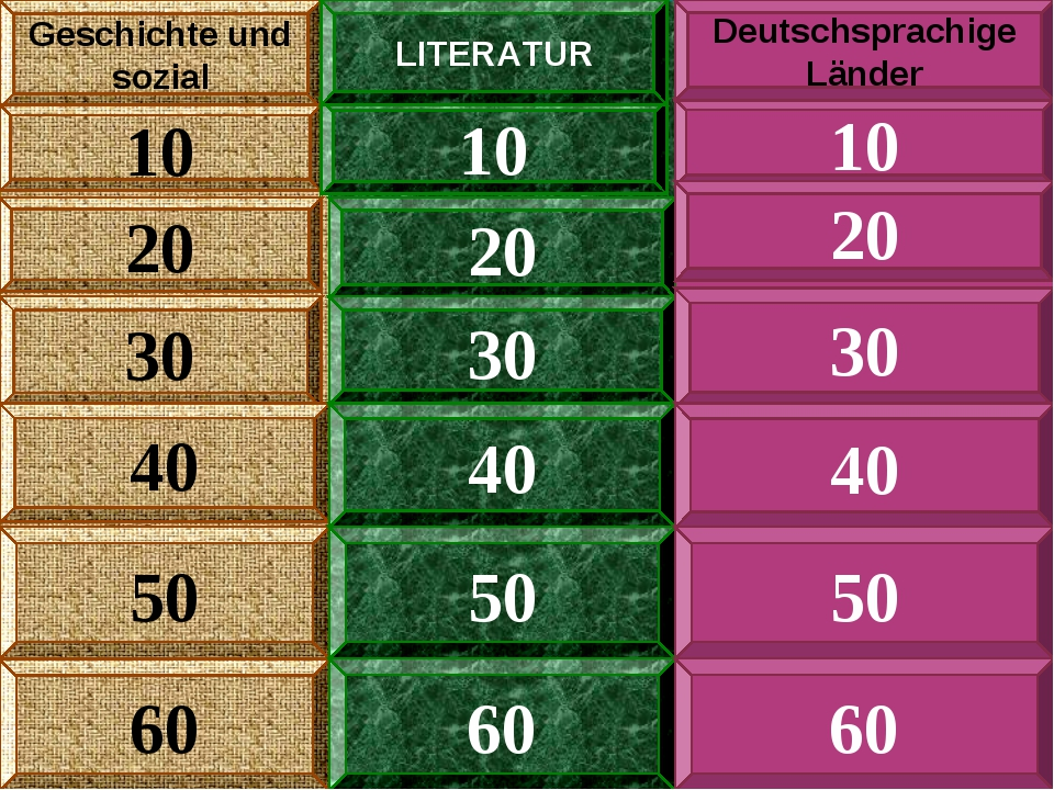 80 Geschichte und sozial 10 20 30 40 50 10 20 30 40 50 10 20 30 40 50 LITERAT...