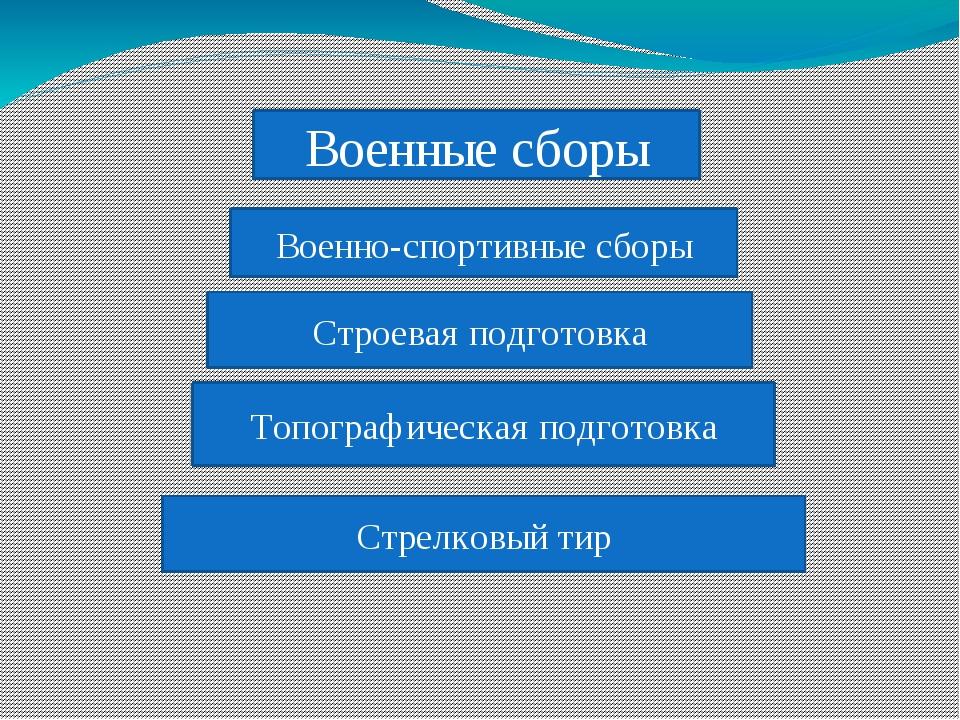 Военно-спортивные сборы Строевая подготовка Топографическая подготовка Стрелк...
