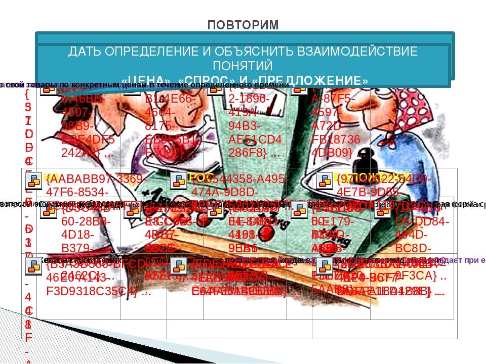 ПОВТОРИМ Назовите типы экономических систем: ДАТЬ ОПРЕДЕЛЕНИЕ И ОБЪЯСНИТЬ ВЗА...