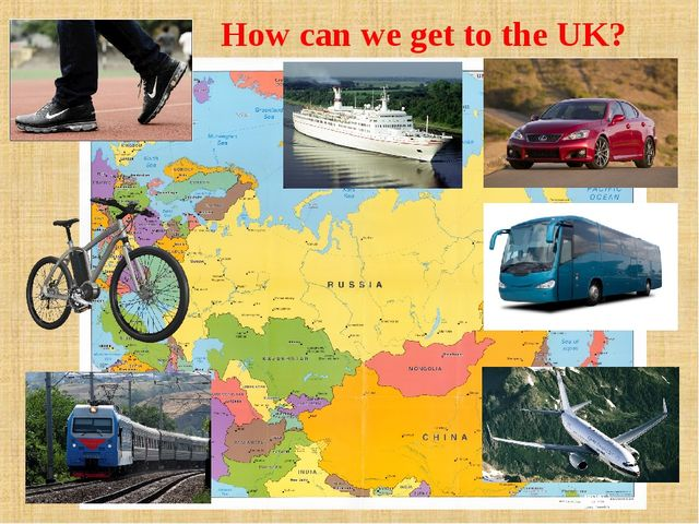 How can we get to the UK?