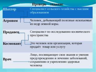 Проверь задание Шахтер Специалистсельского хозяйствас высшимобразованием Аг