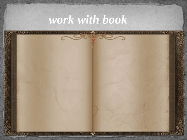 work with book
