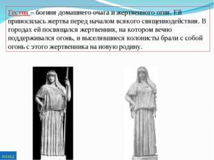 Гестия – богиня домашнего очага и жертвенного огня. Ей приносилась жертва пер