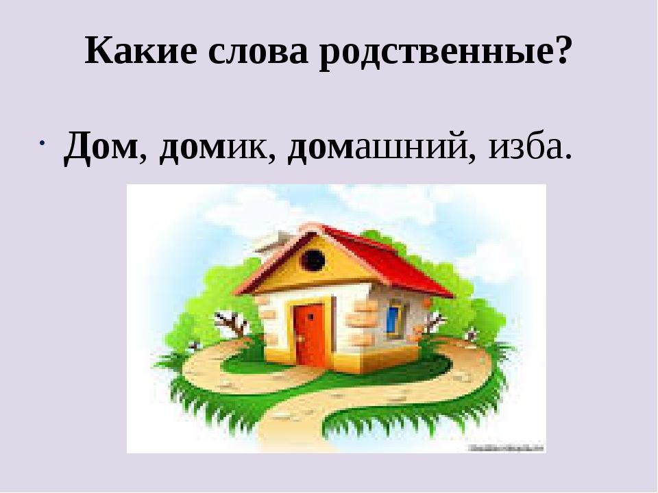 Картинка с однокоренными словами к слову дом