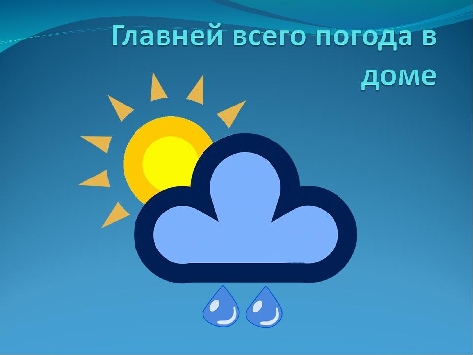 Прикольные картинки главней всего погода в доме
