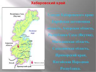 Хабаровский край Соседи Хабаровского края: Еврейская автономная область, Амур