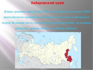 Хабаровский край Длина границы края более 7000 километров, из которых 2500 пр