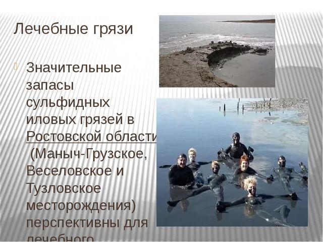 Лечебные грязи Значительные запасы сульфидных иловых грязей вРостовской обла...