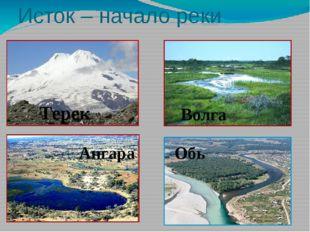 Исток – начало реки Терек Волга Ангара Обь