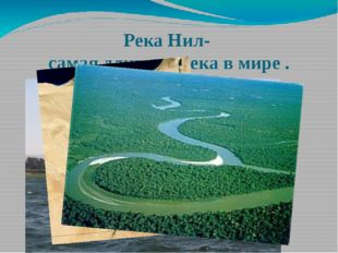 Река Нил- самая длинная река в мире .