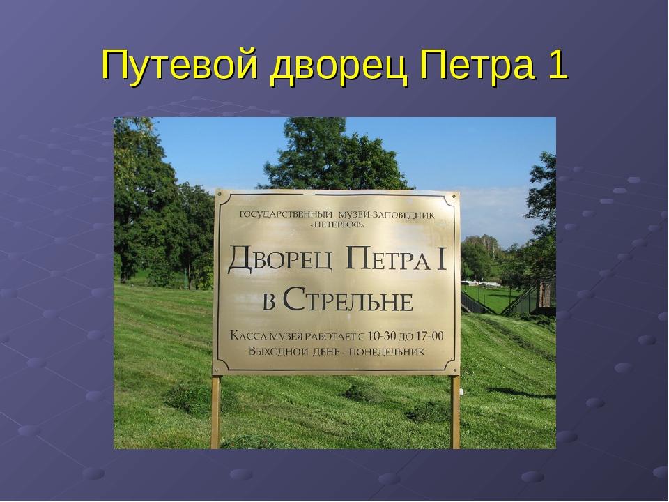 Путевой дворец Петра 1