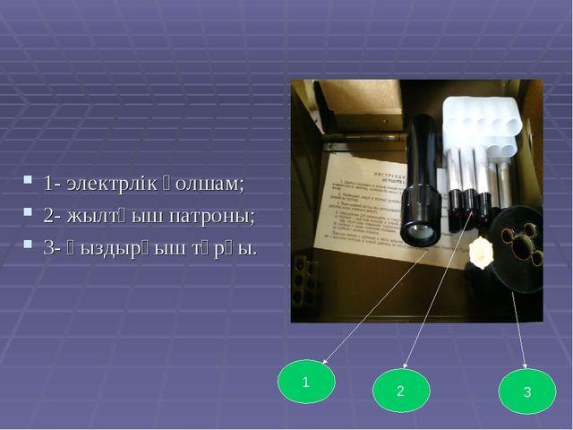 1- электрлік қолшам; 2- жылтқыш патроны; 3- қыздырғыш тұрқы. 1 2 3