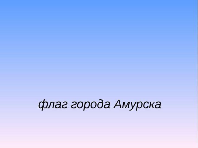 флаг города Амурска