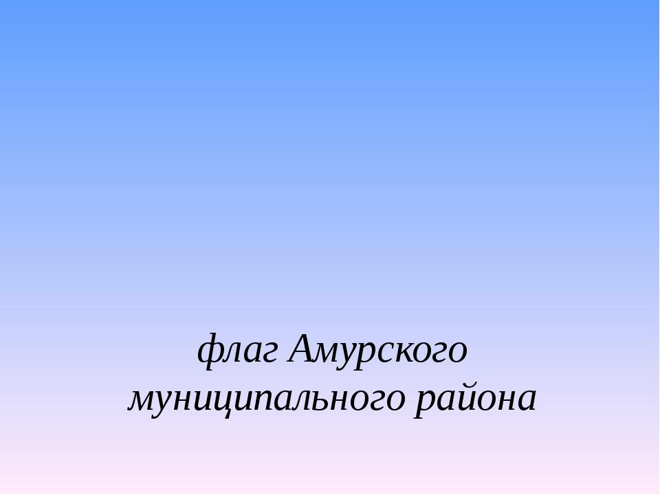 флаг Амурского муниципального района