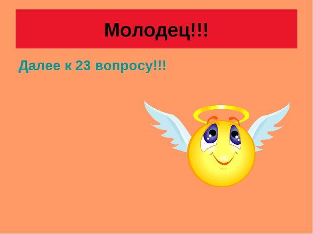 Молодец!!! Далее к 23 вопросу!!!