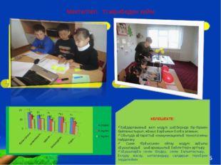 Мектептегі тәжірибеден кейін: Оқушы сабаққа деген оң көзқарасы қалыптасты/қыз