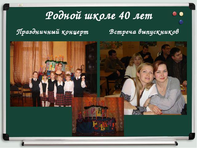 Родной школе 40 лет Праздничный концерт Встреча выпускников