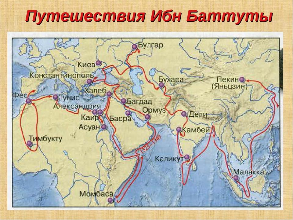 Путешествия Ибн Баттуты