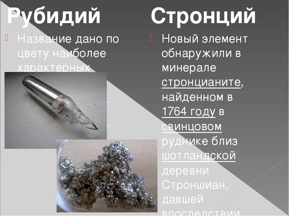 Название дано по цвету наиболее характерных красных линий спектра (от лат.ru...