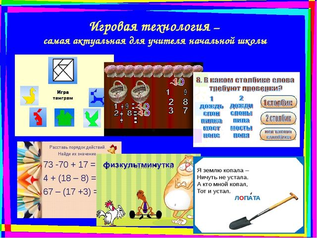 Игровая технология – самая актуальная для учителя начальной школы