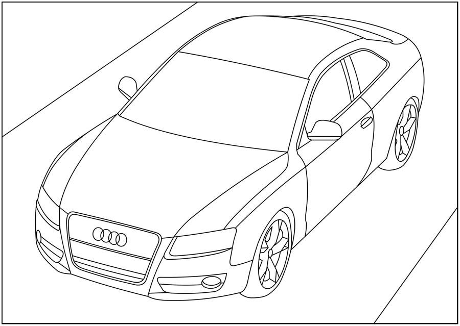 Как рисовать машины карандашом поэтапно для мальчиков