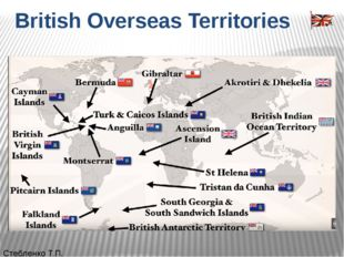 British Overseas Territories Стебленко Т.П. Британские заморские территории(